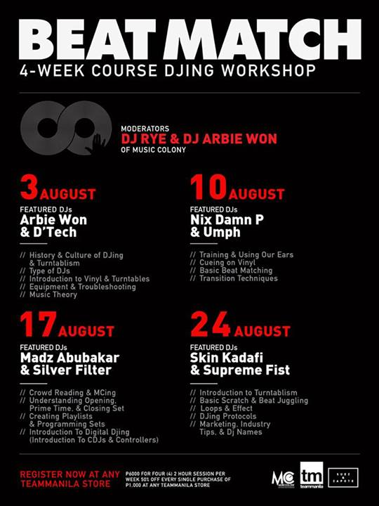 Beat Match: a 4-week Course DJing Workshop