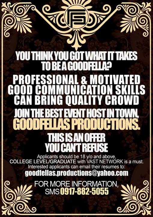 Goodfellas Productions & Entertainment Inc.
