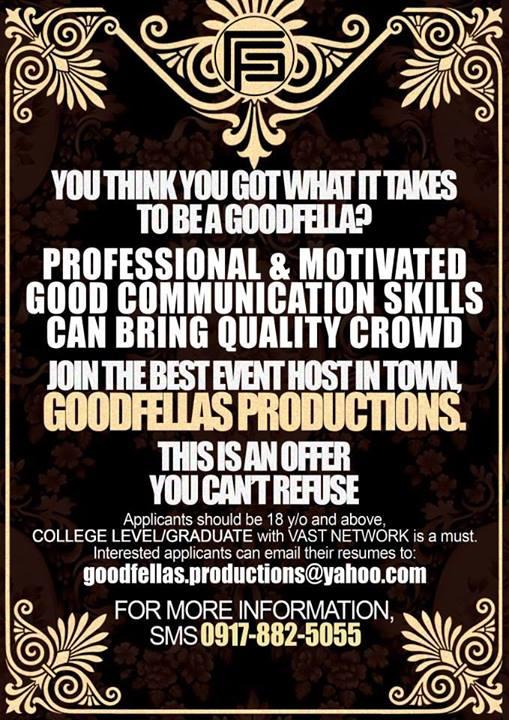 Goodfellas Productions & Entertainment Inc.