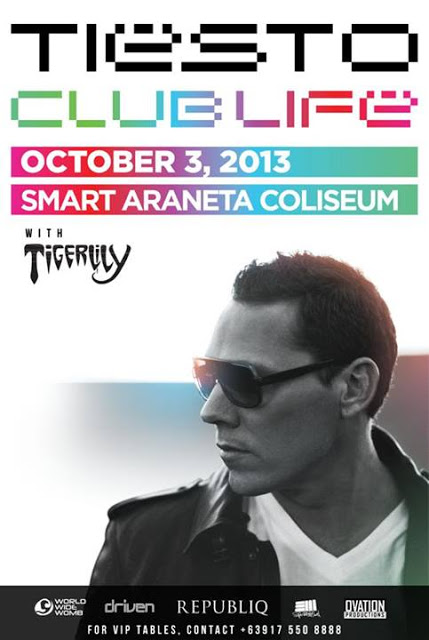 Tiesto & Tigerlily: Oct. 3 at Smart Araneta Coliseum