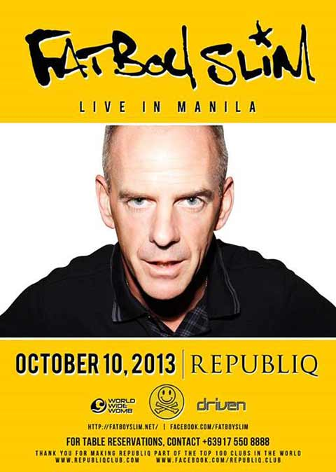 Fatboy Slim: Oct. 10 at Republiq
