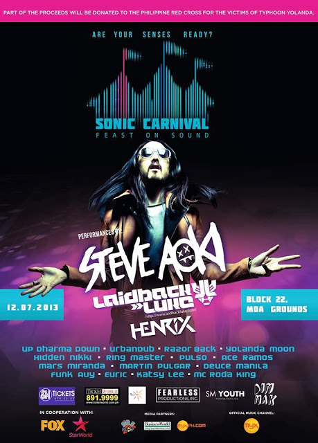 Sonic Carnival: Feast on Sound 2013|Steve Aoki| December 7, 2013 | SM Mall of Asia Open Grounds