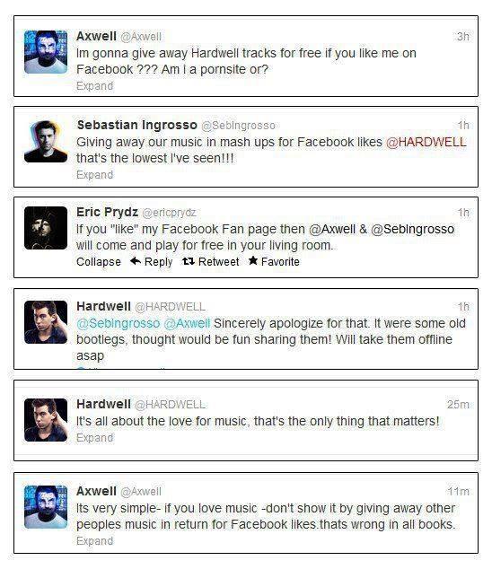 Twitter conversation DJ's