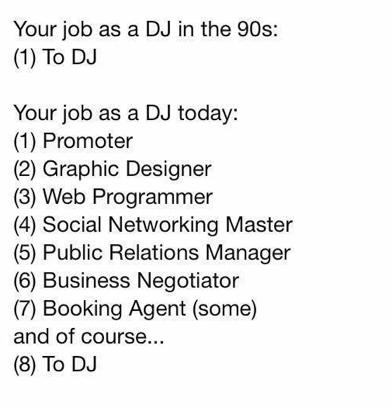 DJ's 90's x DJ's today
