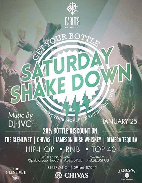 #SaturdayShakeDown at Pablo's Pub and Restaurant