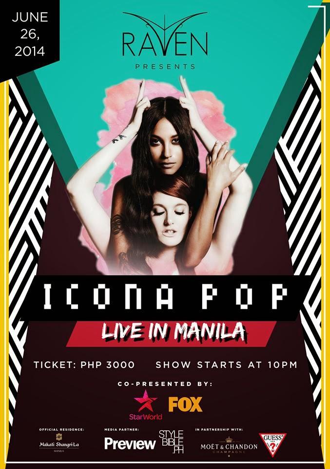 """""""ICONA POP LIVE IN MANILA"""" 6.26.2014 @ RAVEN BOUTIQUE CLUB"""
