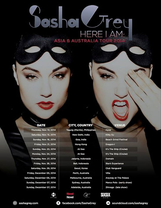 Sasha Grey Here I am: Asia & Australia Tour 2014
