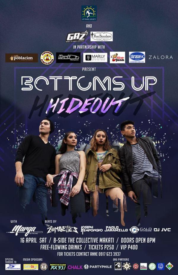 DJ JVC GIG: BOTTOMS UP 2016: Hideout | UP Travel Society | B-Side Makati | April 16, 2016