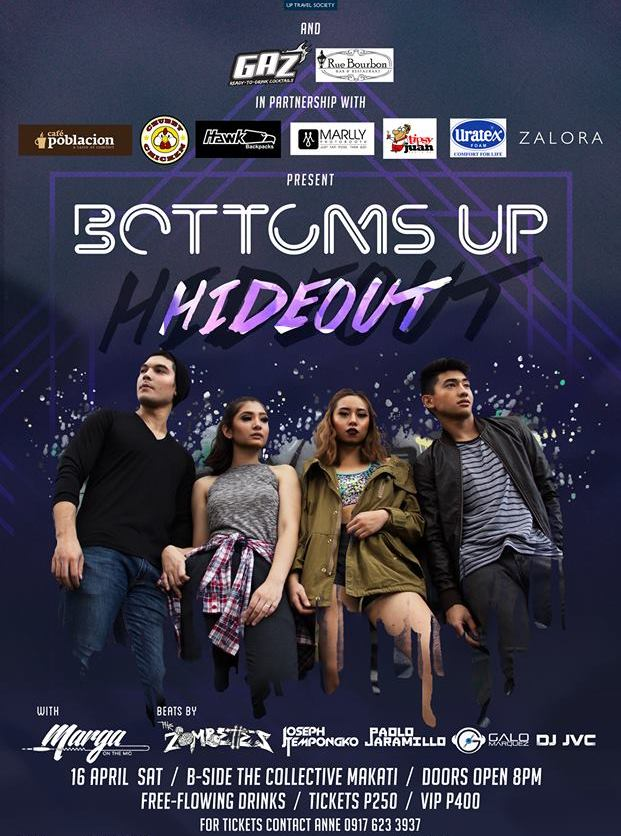 DJ JVC GIG: BOTTOMS UP 2016: Hideout | UP Travel Society | B-Side Makati | April 16, 2016