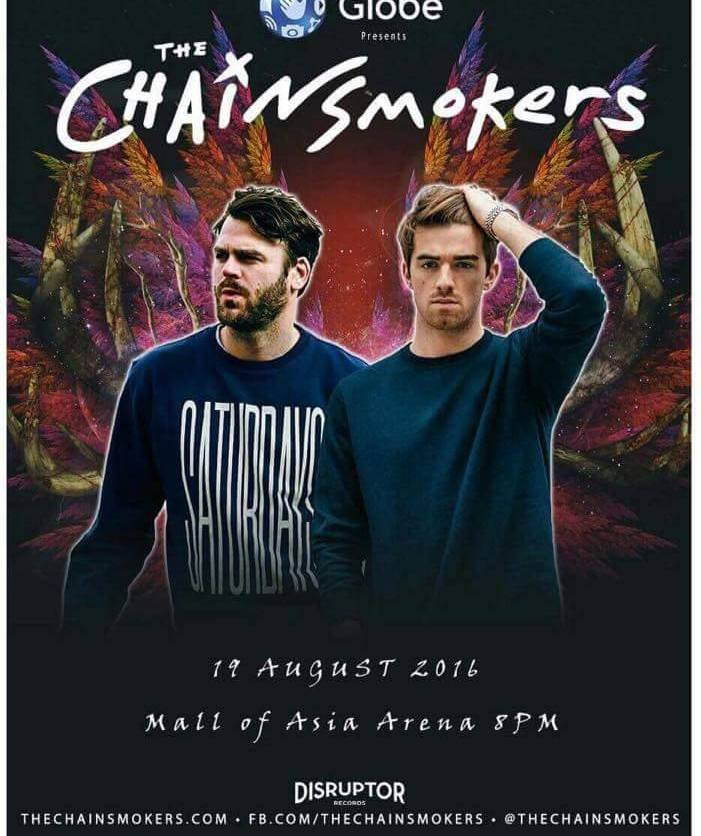 The Chainsmokers | Manila 2016 | August 19, 2016 | Mall of Asia Arena, Pasay City Philippines