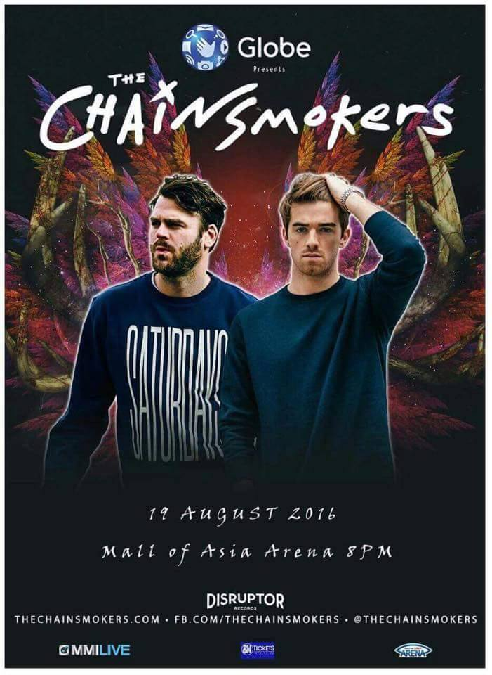The Chainsmokers   Manila 2016   August 19, 2016   Mall of Asia Arena, Pasay City Philippines