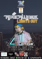DJ JVC GIG PHOTOS: APOCALYPSE | Alpha Phi Omega | DJ JVC, DJ Chum and DJ K.Woo | CITIES PLACE EVENTS, Quezon City. | October 27, 2017