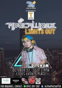 DJ JVC GIG PHOTOS: APOCALYPSE | Alpha Phi Omega | DJ JVC, DJ Chum and DJ K.Woo | CITIES PLACE EVENTS, Quezon City. | October 27, 2017